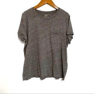 Madewell Grey Crew Neck Pocket T-Shirt sz XL EUC
